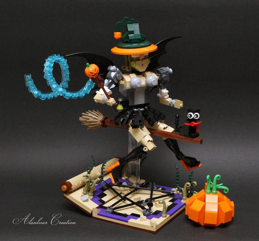 The LEGO Halloween Witch by Alanboar Cheung