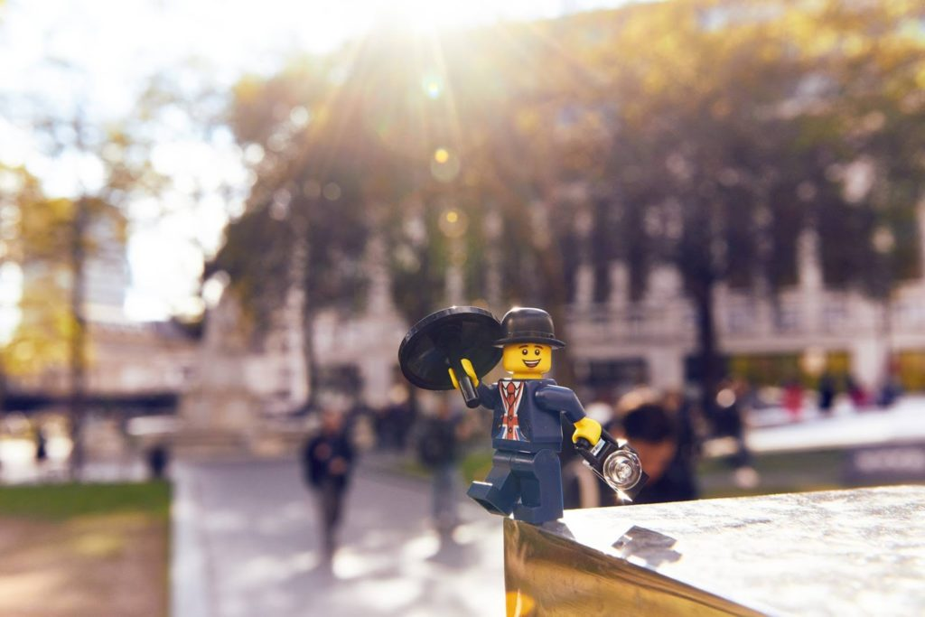 Lester the Minifigure Mascot for the Leicester Square LEGO Brant Retail Store