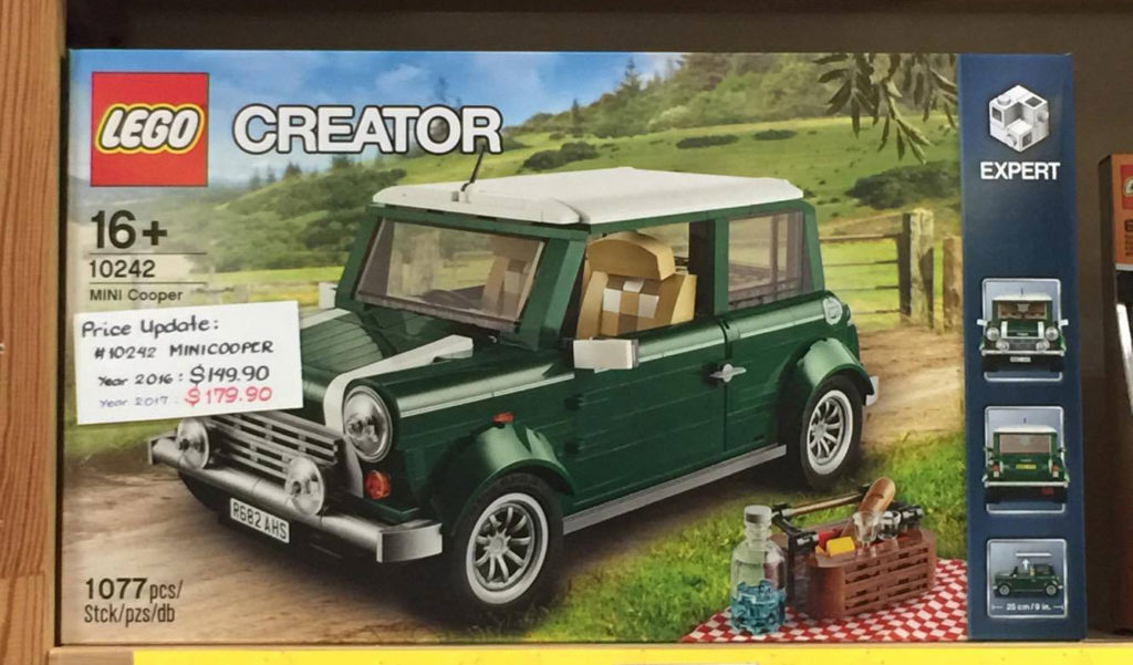 Price Increase for LEGO Mini Cooper (10242) in Singapore