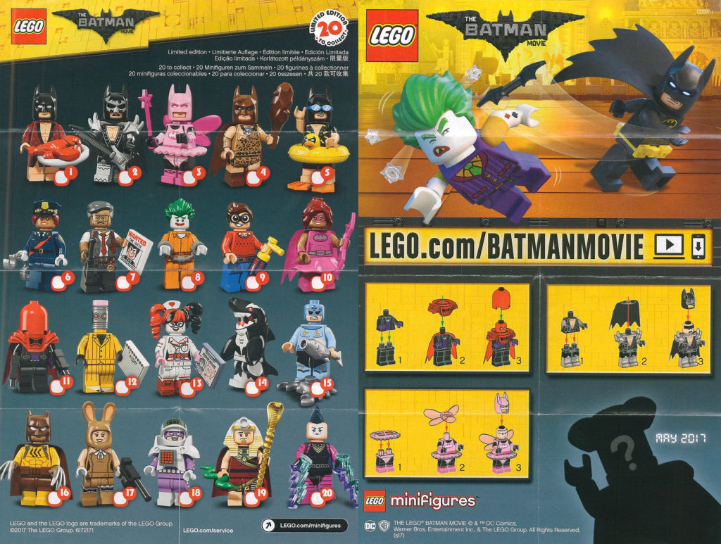 LEGO Batman Movie Minifigure Series Promotional Poster