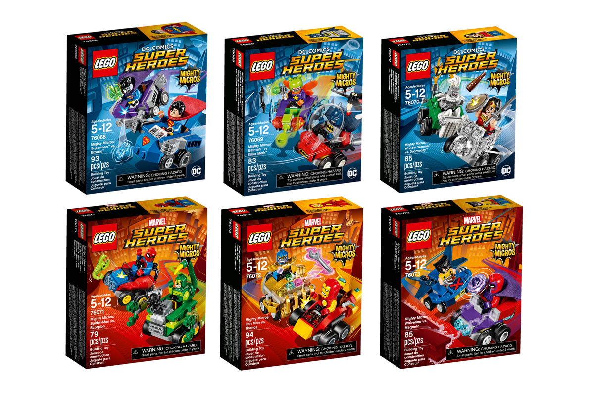LEGO Superheroes Mighty Micros Official Announcement
