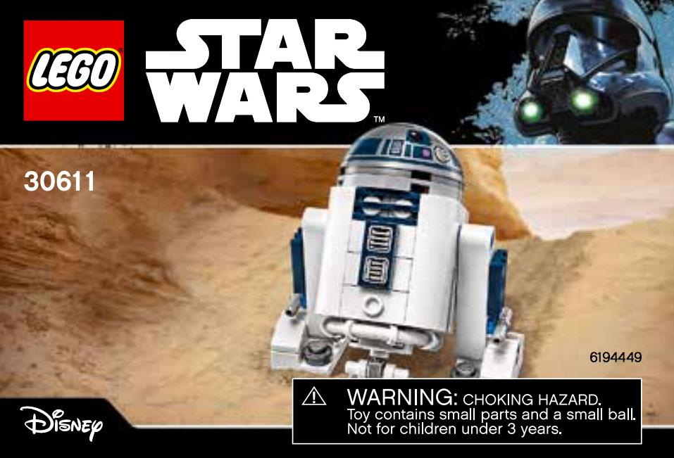 Brickfinder Lego Star Wars R2d2 30611 Instructions Now Online