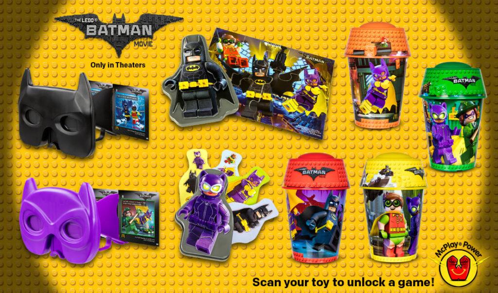 LEGO Batman Movie Happy Meal Freebies