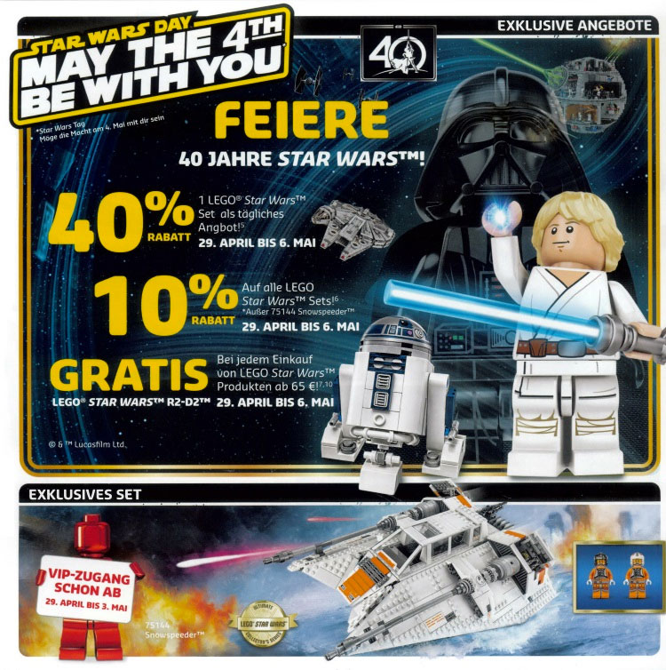 2017 May The 4th Be With You: Star Wars Day May The Fourth LEGO Promotions