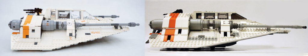 LEGO UCS Snowspeeder (75144) vs UCS Snowspeeder (10129)