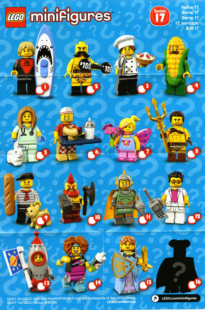 Brickfinder Lego Collectible Minifigure Series 17 Feel Guide