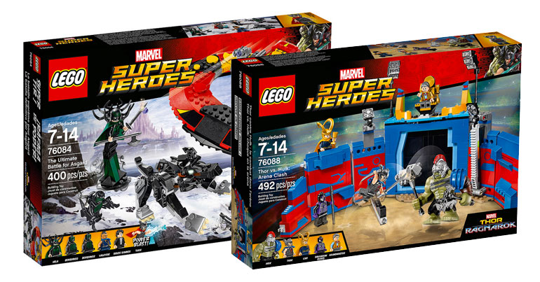 LEGO thor: ragnarok sets