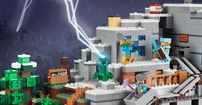 Brickfinder - LEGO Minecraft The Mountain Cave Fully Revealed
