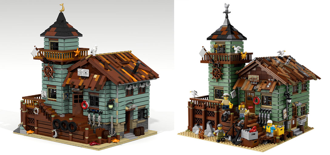 LEOG Ideas Old Fishing Store comparison