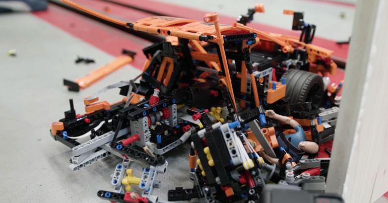 brickfinder lego technic porsche 911 gt3 rs crash test at 1000 fps. Black Bedroom Furniture Sets. Home Design Ideas
