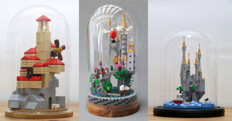 LEGO in Glass Domes