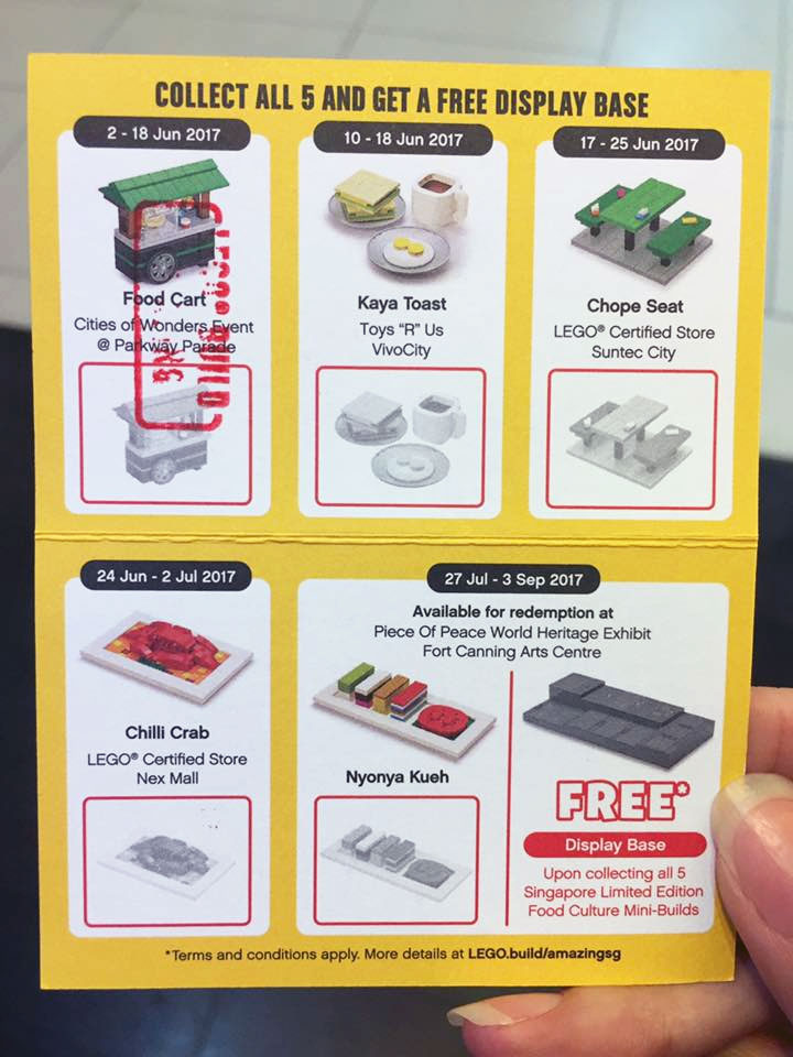 LEGO cities of Wonders collection card