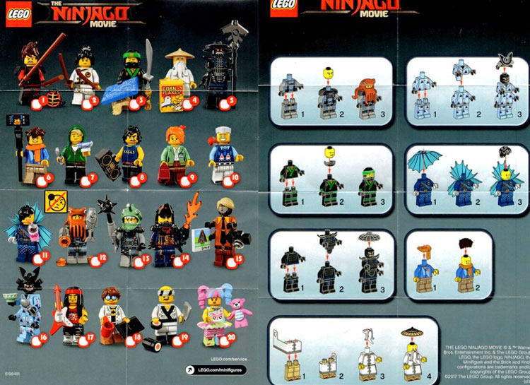 LEGO Ninjago Movie Collectible Minifigure Series Insert