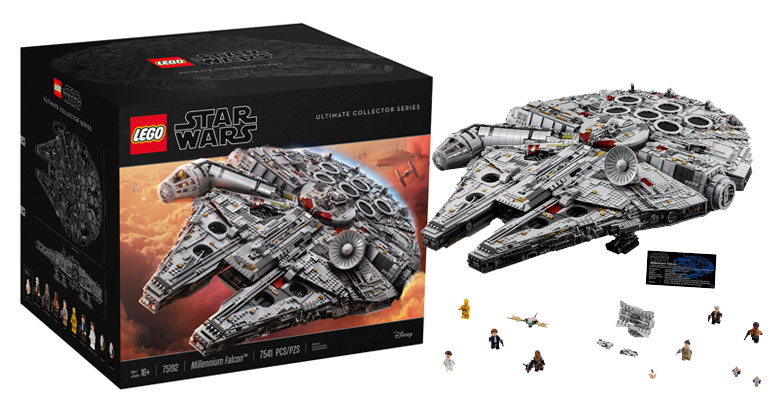 Brickfinder lego star wars ucs millennium falcon 75192 official announcement - Lego brick caravan a record built piece by piece ...