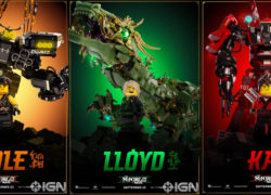 The LEGO Ninjago Movie Character posters