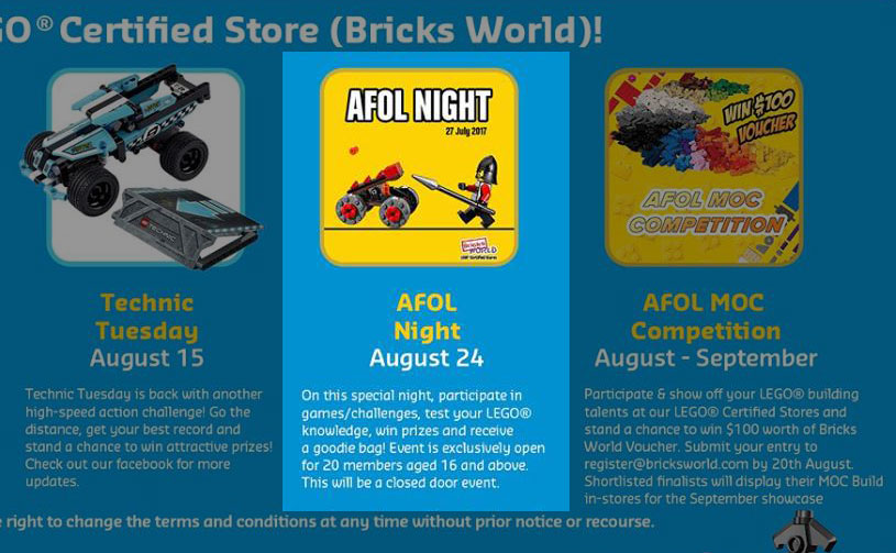 LEGO Certified Store Calendar