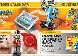 LEGO Certified store calendar november 2017