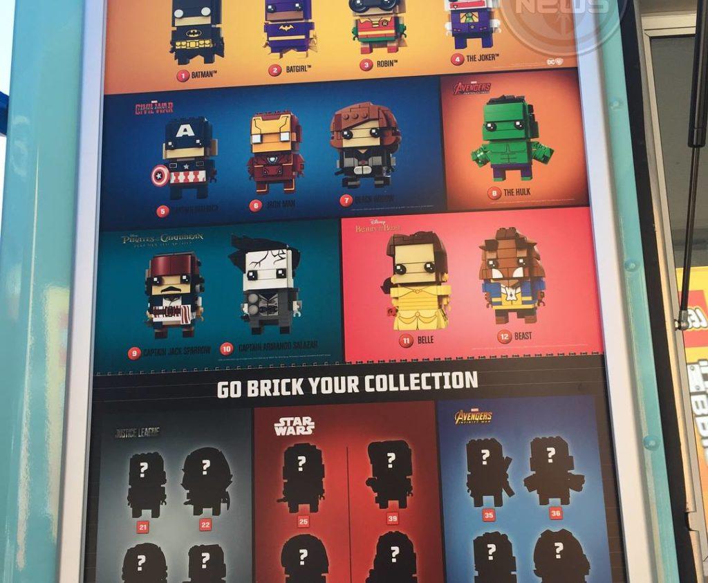 LEGO BrickHeadz characters list to date ©Jedi News