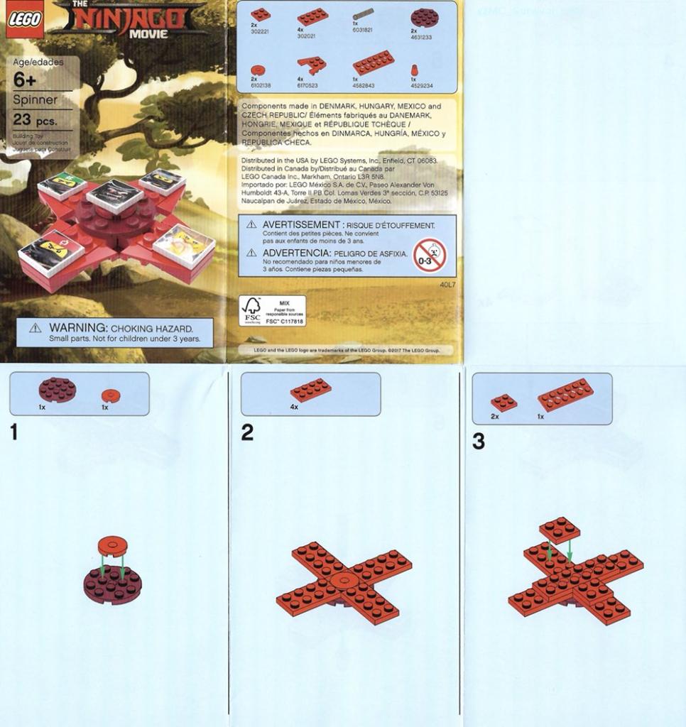 The LEGO Ninjago Movie Fidget Spinner