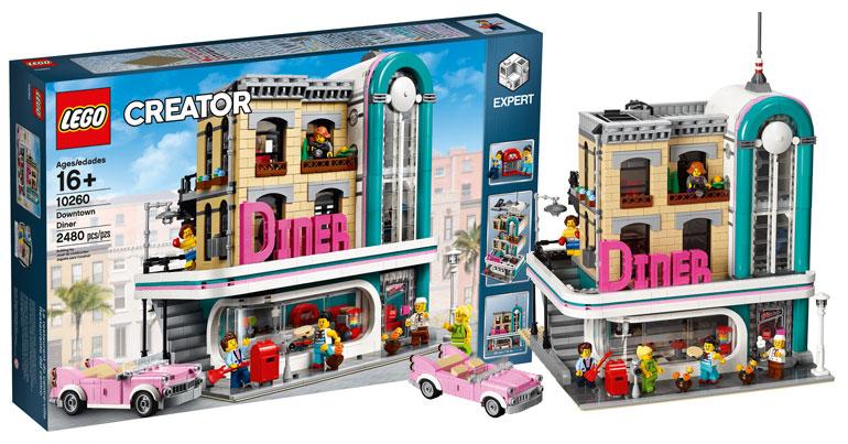 brickfinder lego creator downtown diner 10260 official. Black Bedroom Furniture Sets. Home Design Ideas