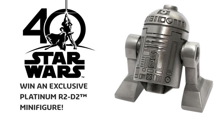 EXCLUSIVE PLATINUM R2-D2™ MINIFIGURE