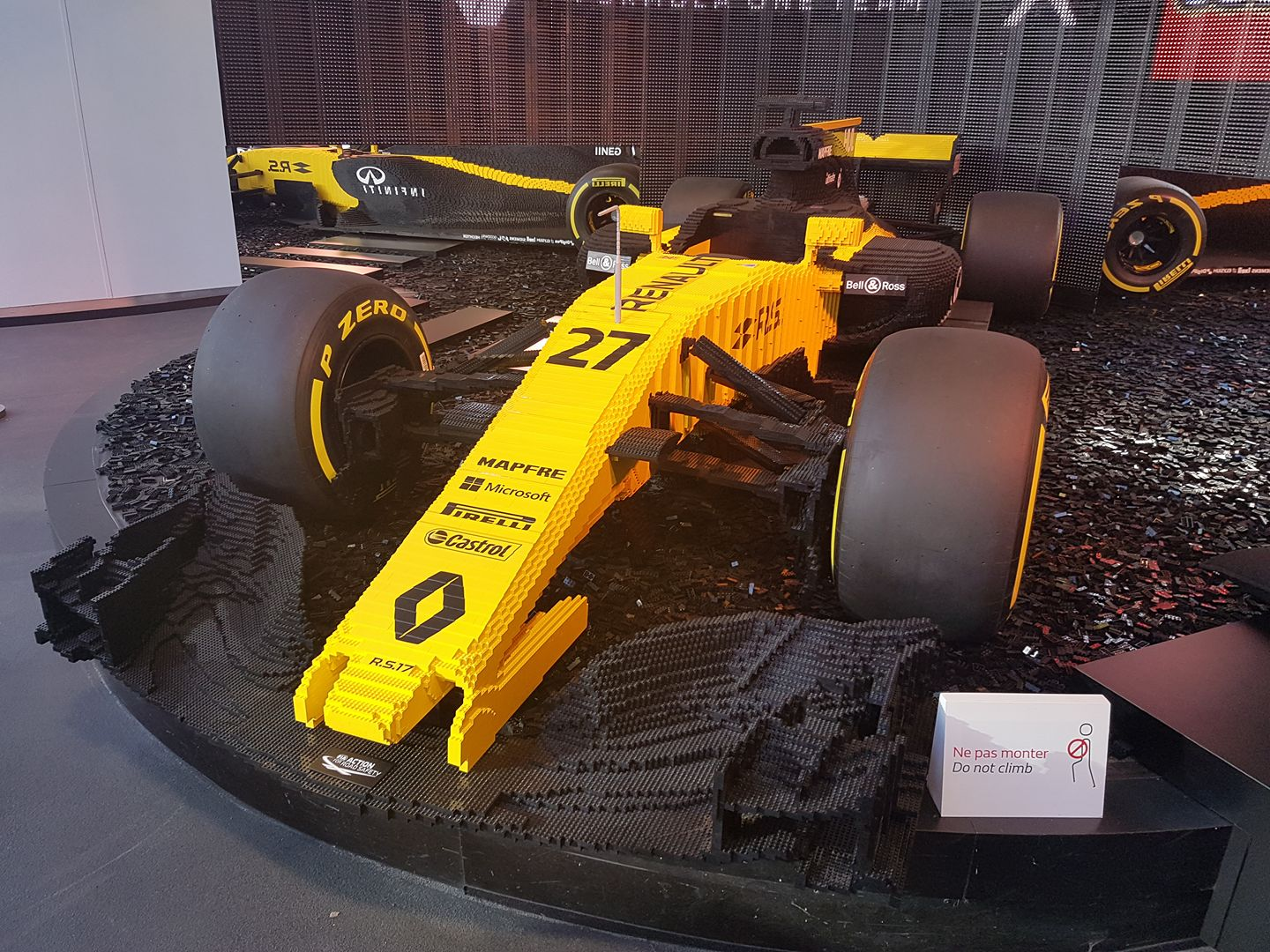 Life sized LEGO Renault RS17