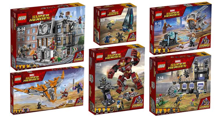 LEGO Marvel Superheroes Infinity War Sets