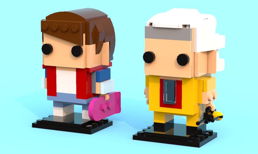 brickheadz marty mcfly and doc brown