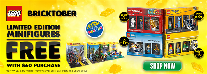 LEGO Bricktober 2017 gift with purchase