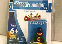 LEGO Brand Retail managers minifigure