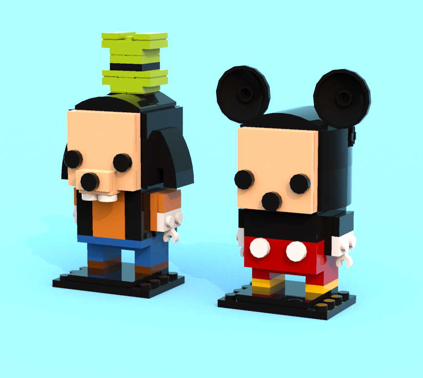 BrickHeadz Goofy and Mickey Mouse by CM4Sci
