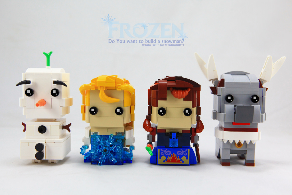 BrickHeadz Olaf, Elsa, Anna and Sven by ckholegoworld