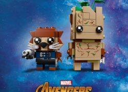 LEGO BrickHeadz Rocket Racoon and Groot Avengers Infinity Wars Guardians Galaxy