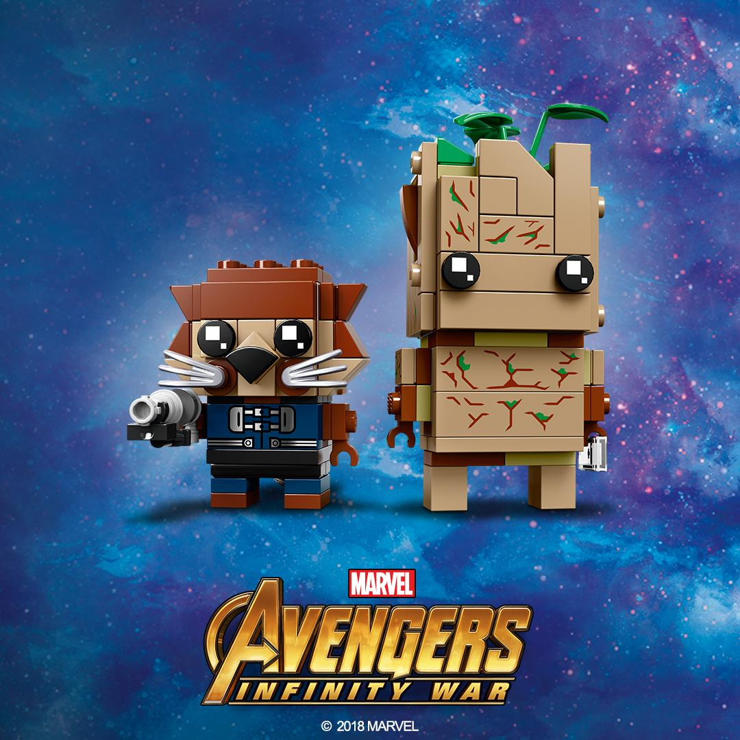 LEGO BrickHeadz Rocket Racoon and Groot Avengers Infinity Wars Guardians Galaxy