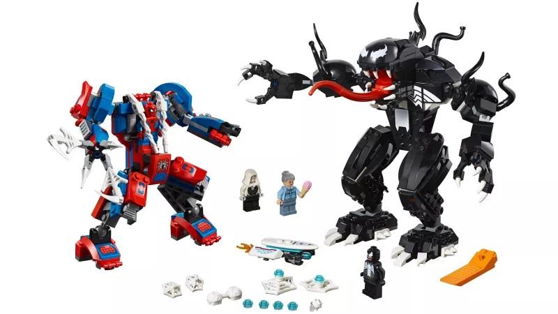 LEGO Marvel Super Heroes 2018 Spider-Man Mech vs. Venom Mech 01