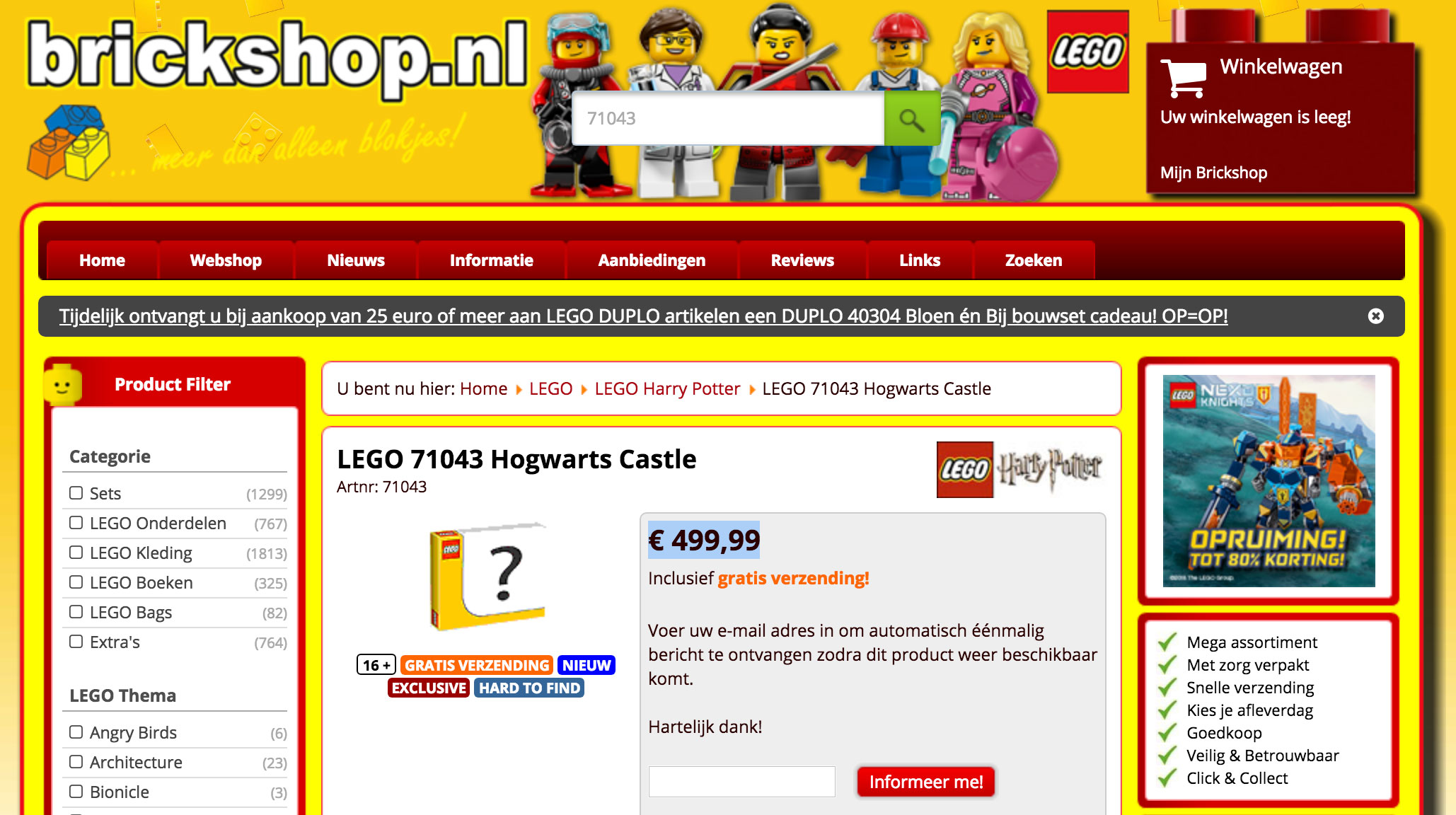 LEGO Hogwarts Castle (71043) price