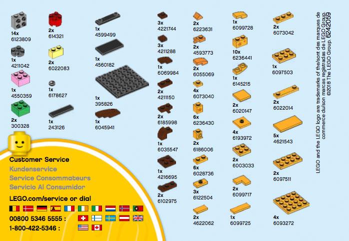LEGO BrickHeadz Toys 'R' Us Geoffrey