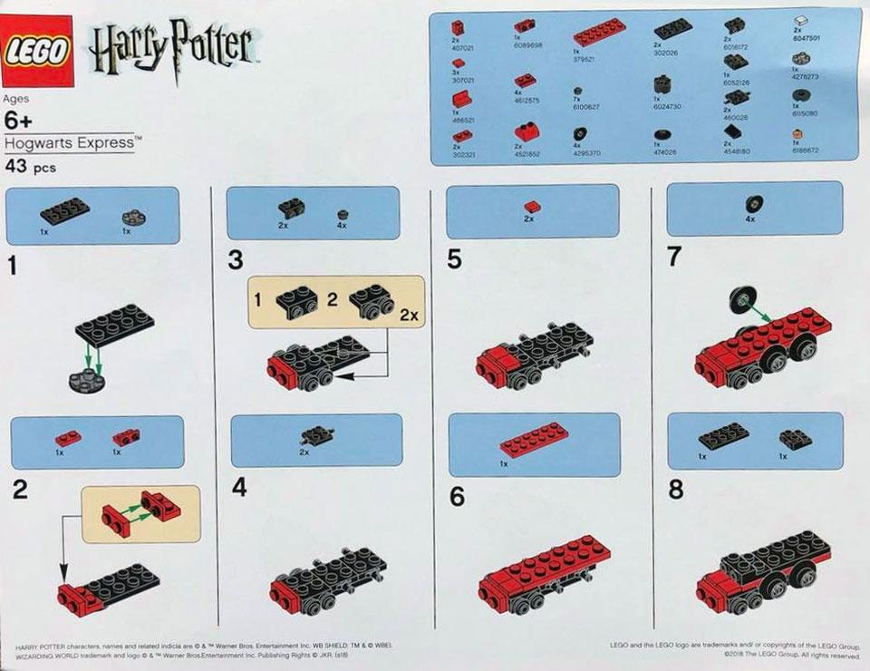 Brickfinder Lego Harry Potter Mini Hogwarts Express Instructions