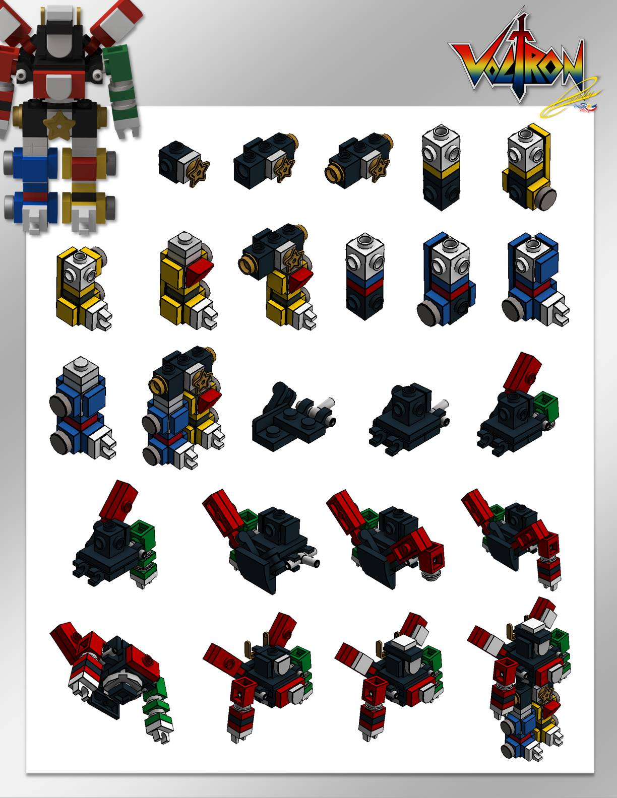 micro lego voltron instructions brickfinder