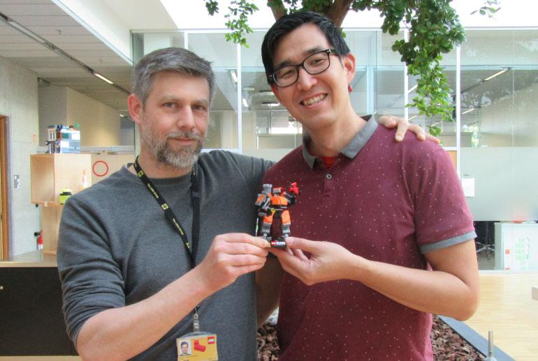 LEGO Designers Raphael (L) and Woon Tza (R)