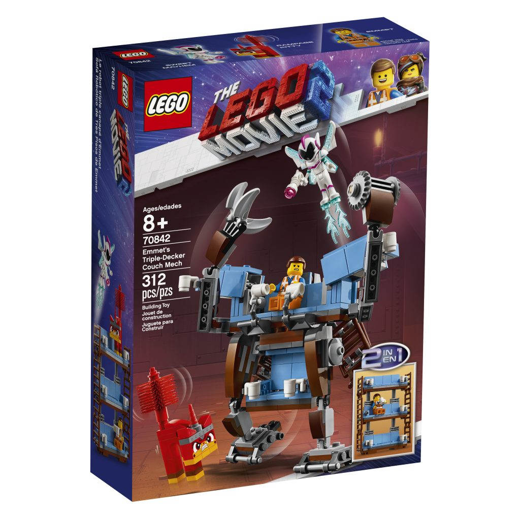 70842-LEGO-MOVIE-2-Emmets-Triple-Decker-Couch-Mech-01