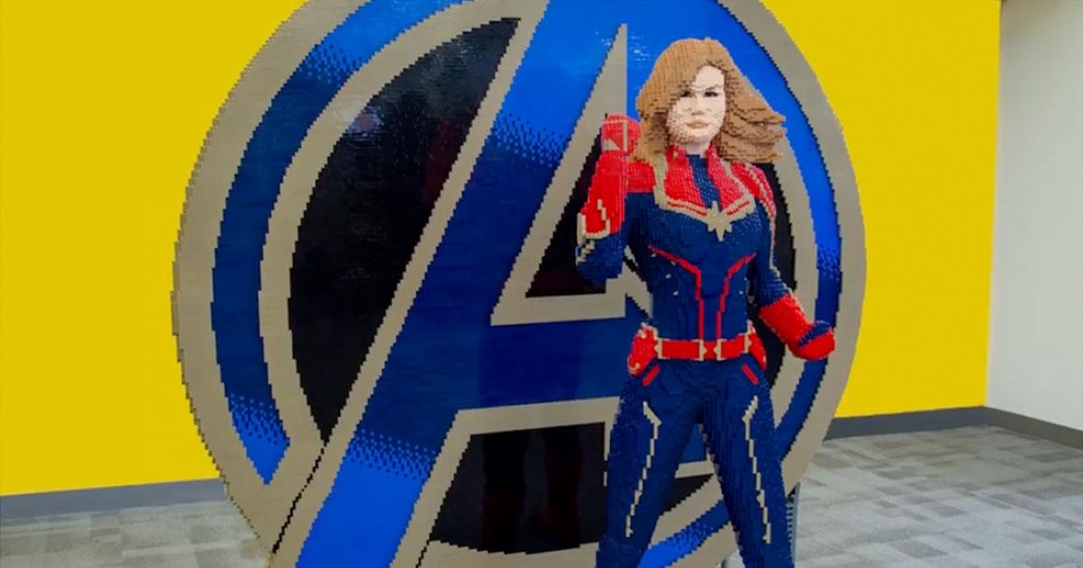 lego-captain-marvel-statue
