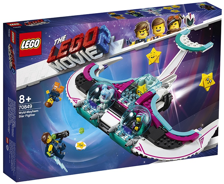 LEGO Movie 2 Wyld-Mayhem Star Fighter (70849) brickfinder 01