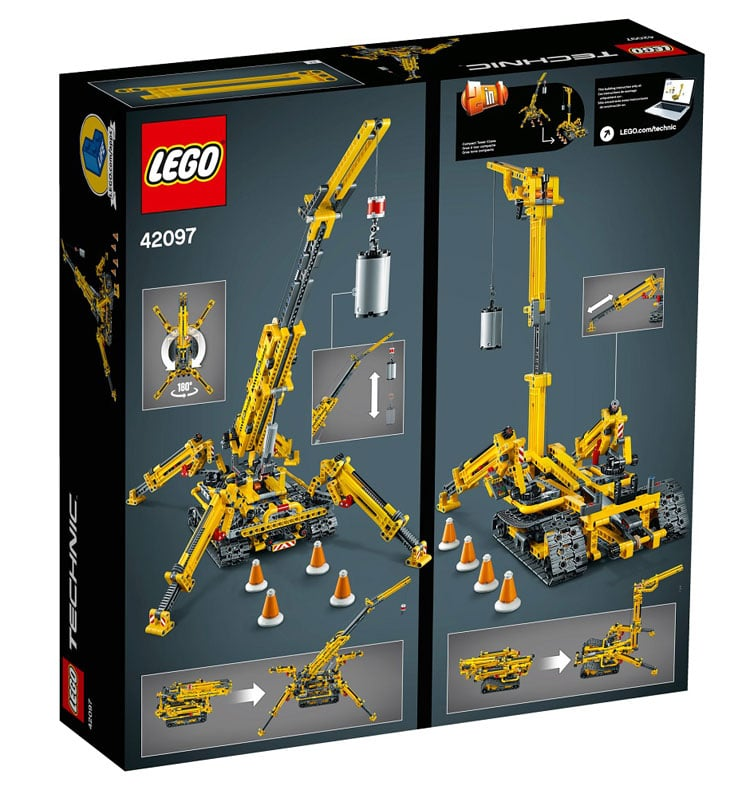 LEGO Technic Compact Crawler Crane 42097 brickfinder 02