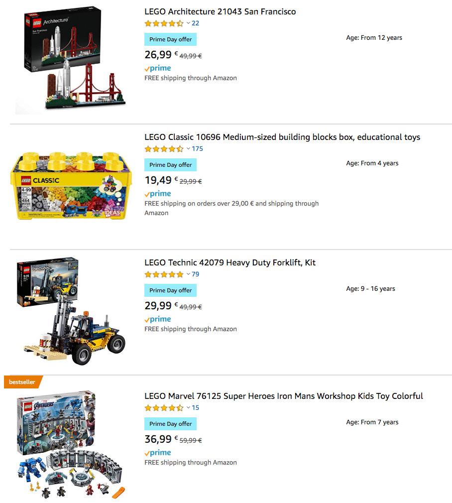 Amazon prime day LEGO Deals (UK) ©Promobricks