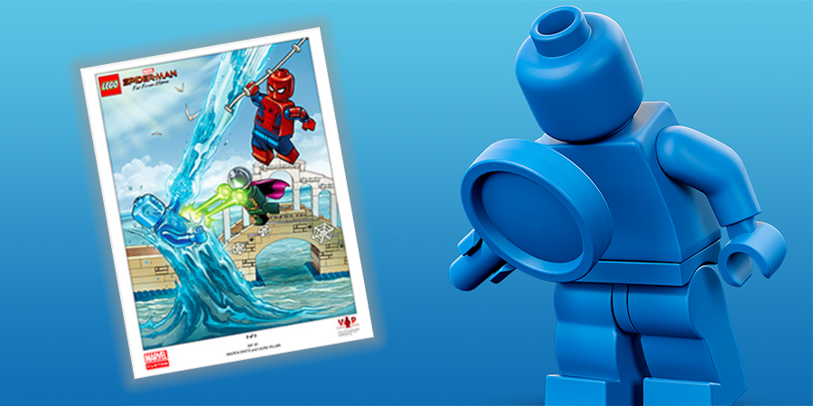 LEGO VIP Marvel Spider-man Far From Home poster ©BrickFanz