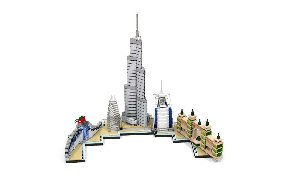 LEGO Dubai Skyline MOC by Anscott2