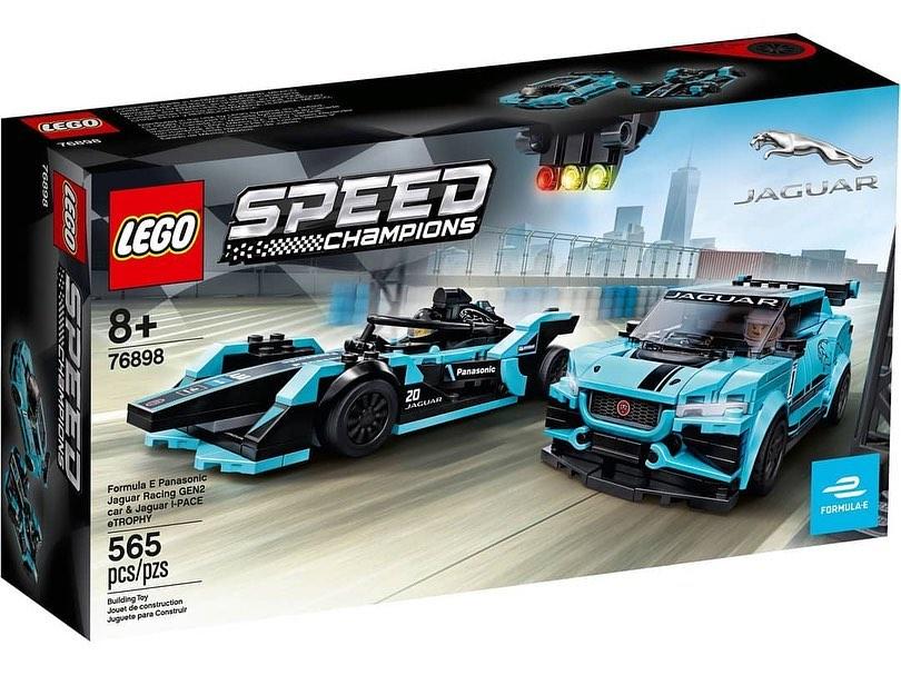 LEGO Speed Champions Formula E Panasonic Jaguar Racing Gen 2 & I-PACE eTROPHY (76898) - 02