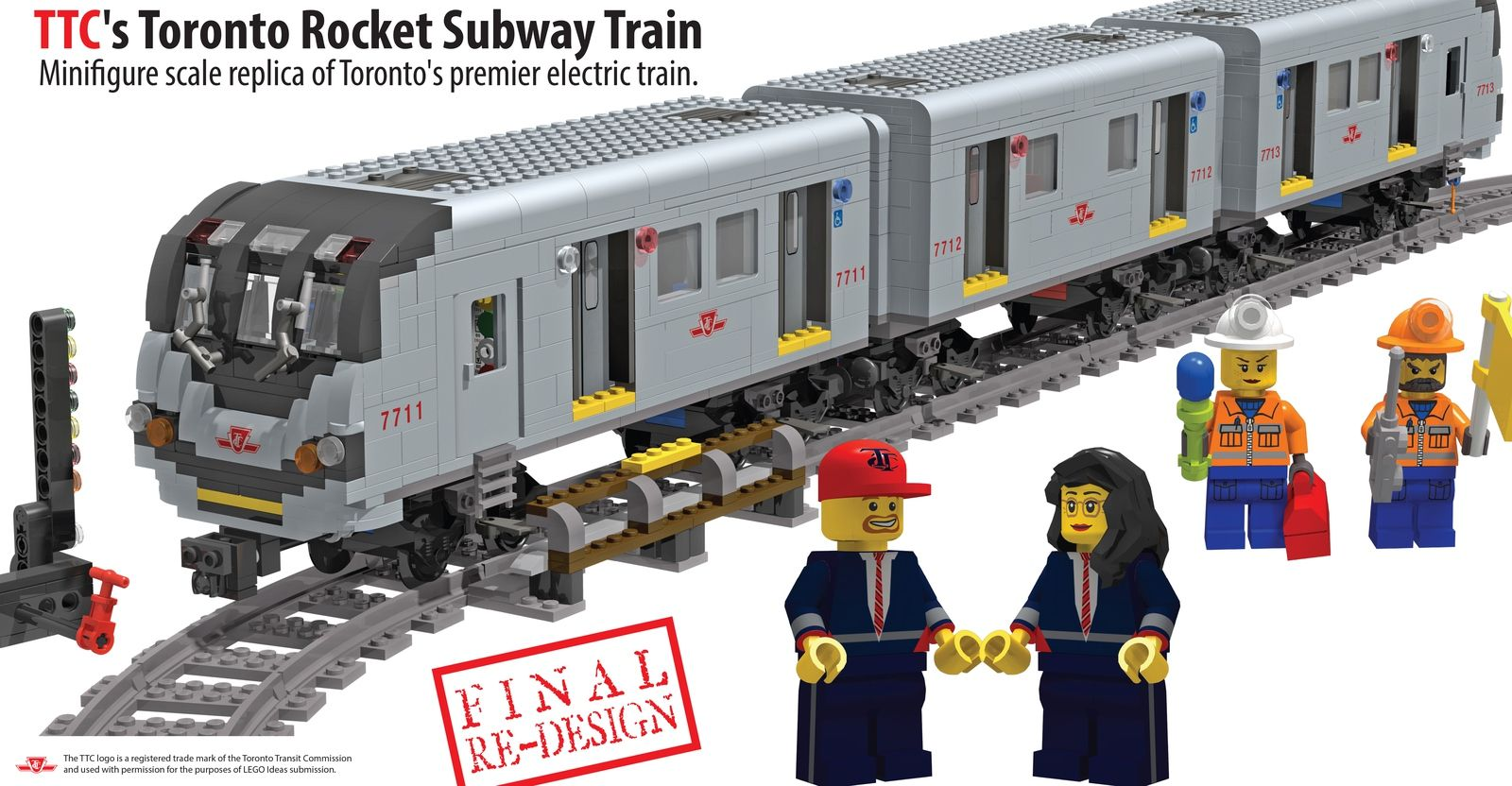 lego toronto rocket subway train
