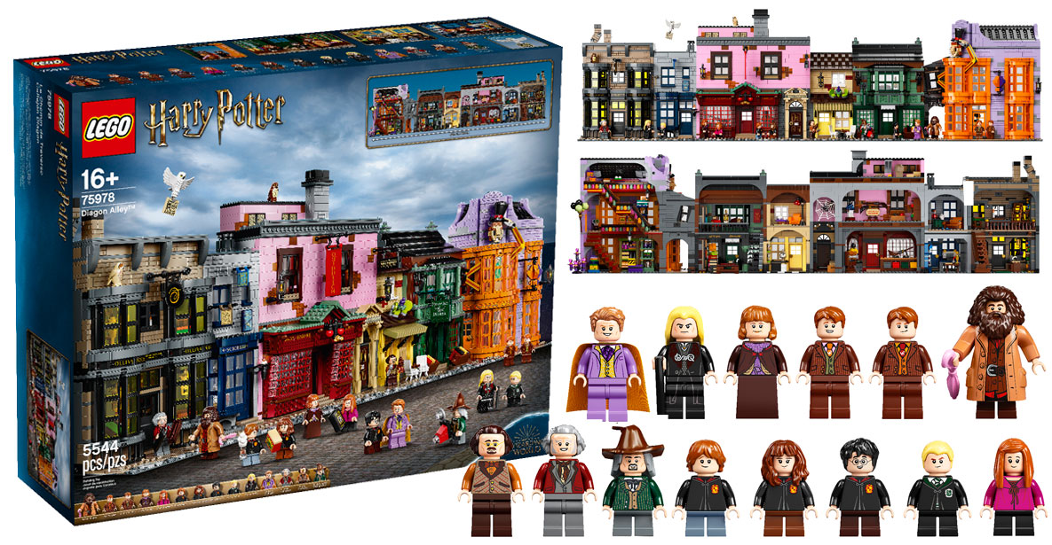 Brickfinder - LEGO Harry Potter Diagon Alley (75978) Official Announcement!